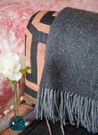 Charcoal Cashmere Woven Blanket AA02/LB9702