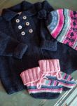 French Navy Cashmere Hand Knit Vintage Coat WJ059A6021