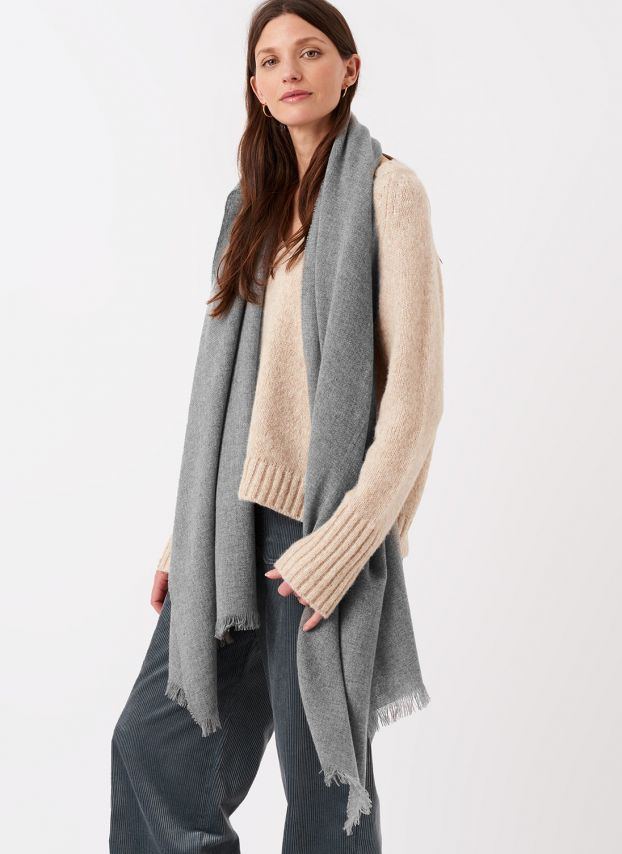 Silver Cashmere Stole AYV/A0221