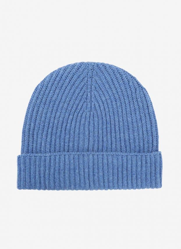 Delft Cashmere Ribbed Hat DQ173H361