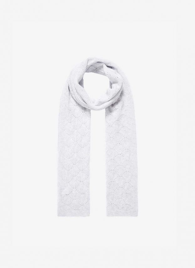 Pearl Cashmere Pointelle Scarf TLQ01/A0086