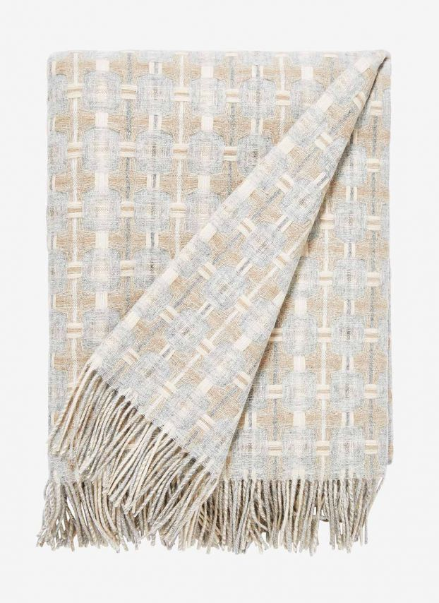 Natural Lambswool Texture Weave Blanket AA04/GH9826