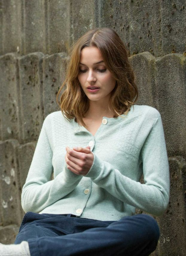 Moonlight Cashmere Guernsey Cardigan WPC775C0016