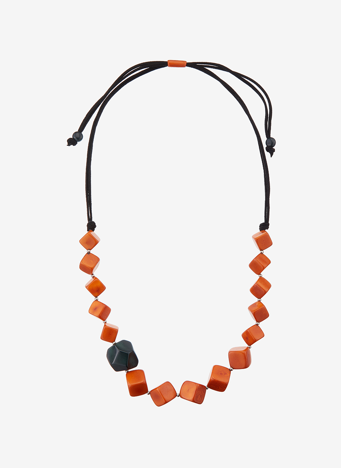Tagua Seed Necklace Cinnamon & Forest