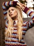 Cashmere Wave Knit Stripe Jumper