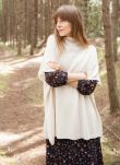 Cashmere Ribbed Poncho