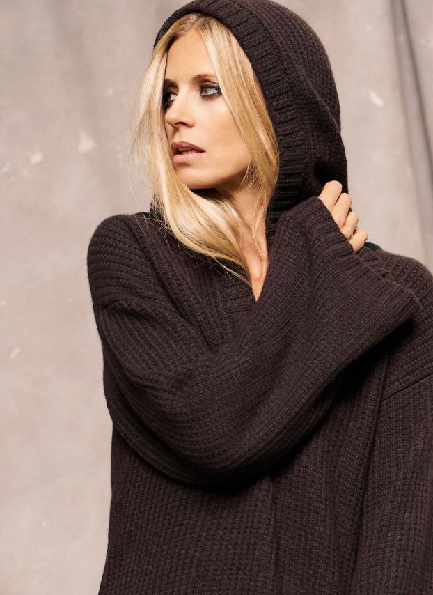 Cashmere Textured Knit Hoody