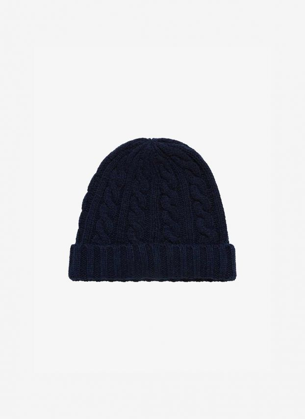 Cashmere Cable & Rib Hat
