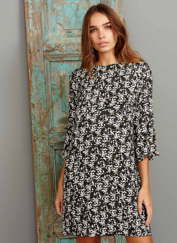 Speckle Print Tunic Dress