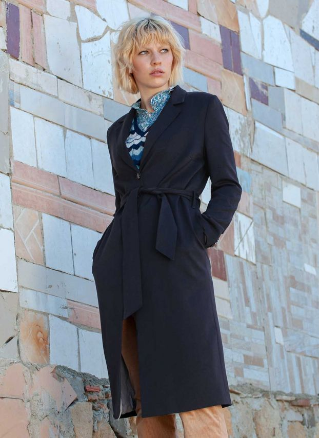 Twill Belted Coat
