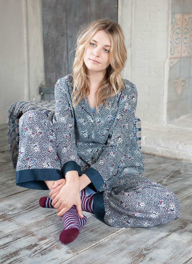 Nightfall Floral Cotton Pyjamas PJ9885JW1829