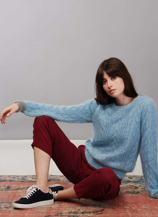 Mohair Lace Knit Jumper