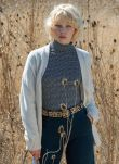 Navy & Chambray Textured Jersey Turtle Neck DB1955FL1974