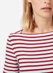 Nautical stripe Boat Neck Jersey Tee DB1959FL1939