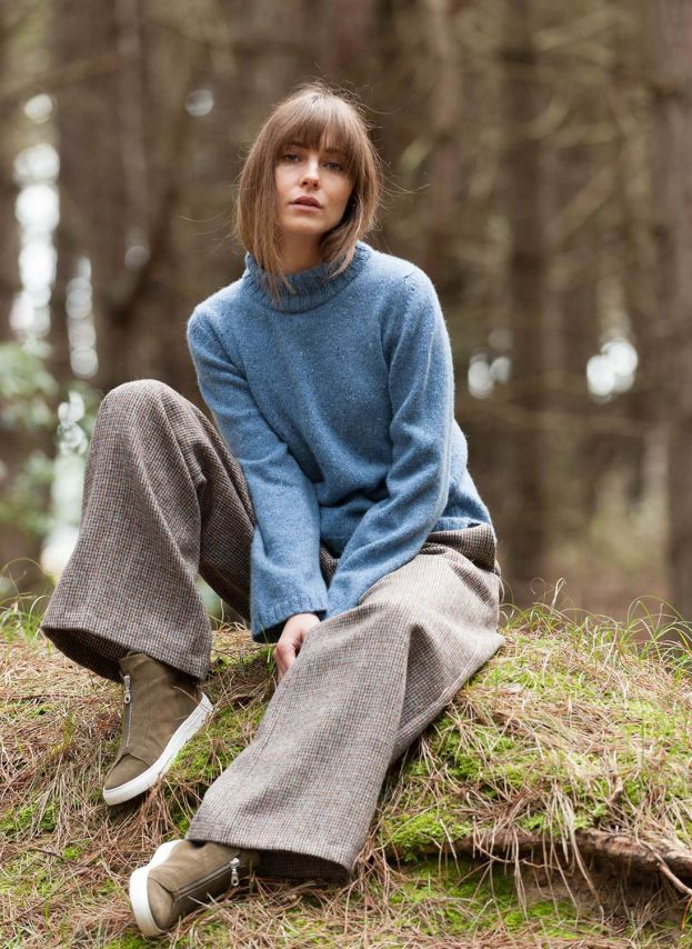 Cashmere Donegal Polo Neck