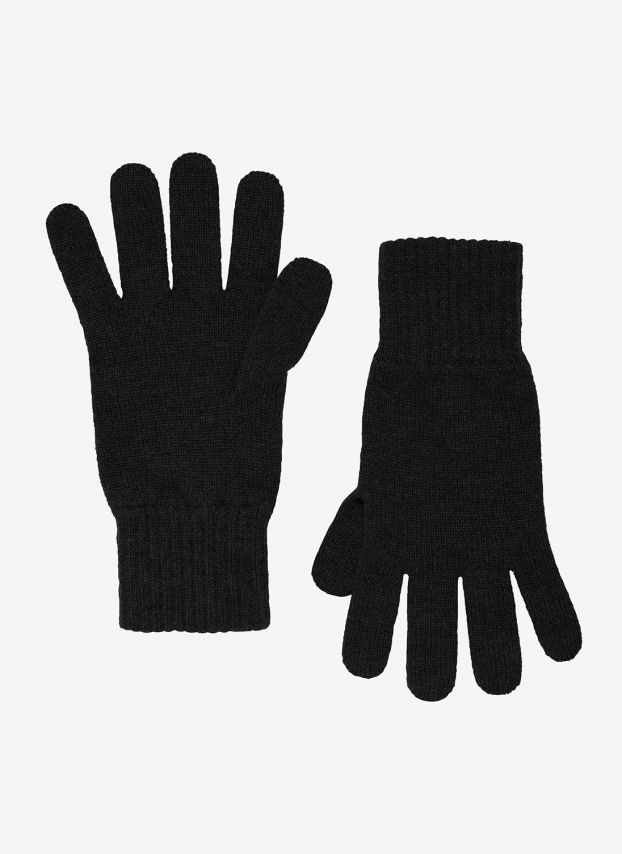Black Men's Cashmere Gloves GHM60/A900